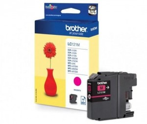 Brother Tusz LC121M Magenta 300sh